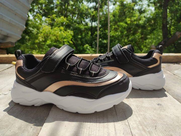 Детские кроссовки American Club HA 23/20 черного цвета 34 - изображение 1