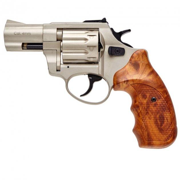 """Револьвер під патрон Флобера Stalker (2.5"""", 4.0 mm), сатин-коричневий - зображення 1"""
