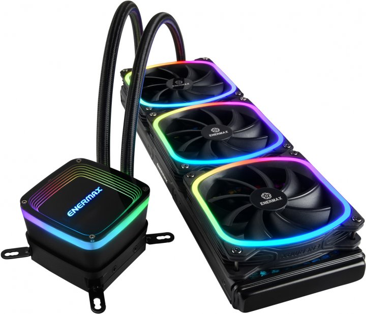 Система жидкостного охлаждения Enermax CPU Cooler model Aquafusion (ELC-AQF360-SQA) - изображение 1