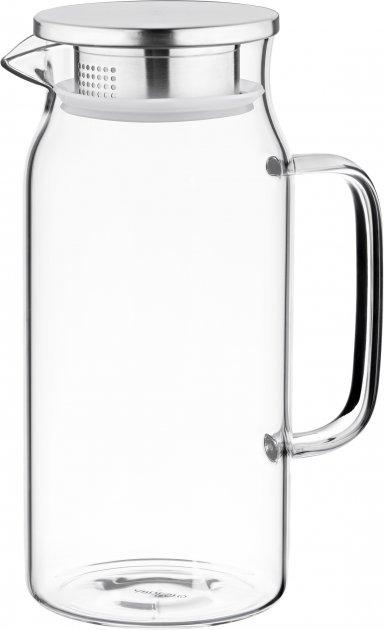 Кувшин с крышкой Ardesto Боросиликатное стекло + нержавеющая сталь 1200 мл (AR2612PG) - изображение 1