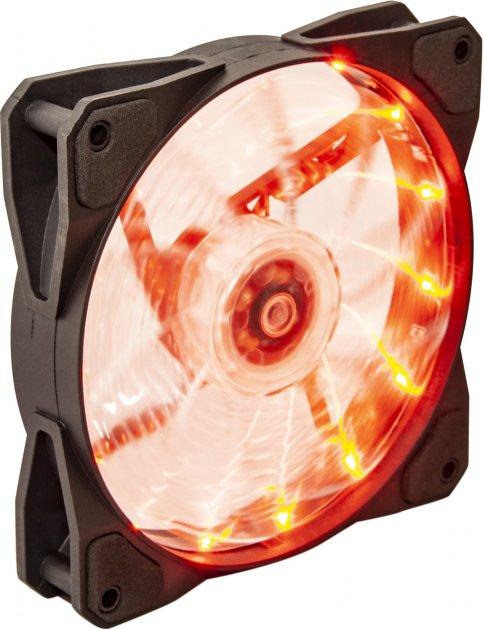 Кулер Frime Iris LED Fan 15LED Orange (FLF-HB120O15) - зображення 1