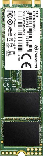 Transcend SSD MTS830S 1TB M.2 SATA SATA III 3D-NAND TLC (TS1TMTS830S) - зображення 1