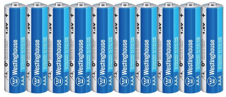 Щелочная батарейка Westinghouse Dynamo Alkaline AАA/LR03 10 шт (889554000427) - изображение 1