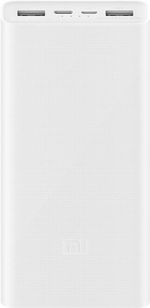 УМБ Xiaomi Mi Power Bank 3 20000 mAh USB-C 18W PLM18ZM White (VXN4258CN) - изображение 1