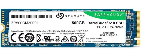 Твердотільний диск SSD M. 2 500GB Seagate Barracuda 510 PCIE NVMe 1.3 (ZP500CM3A001) - зображення 1