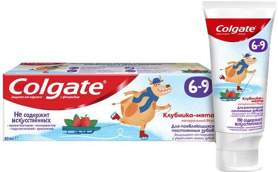 Детская зубная паста Colgate с фтором Клубника-мята от 6 до 9 лет 60 г (6920354825590) - изображение 1