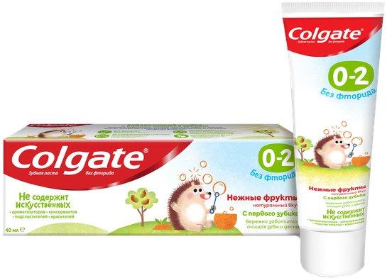 Детская зубная паста Colgate без фтора Нежные фрукты от 0 до 2 лет 40 г (6920354825538) - изображение 1
