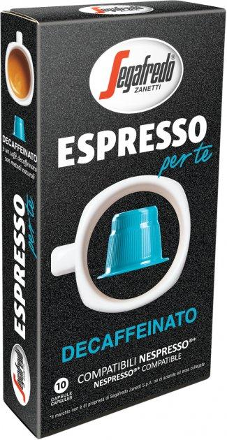 Кофе в капсулах Segafredo Espresso Per Te Decaffeinato 5.1 г х 10 шт (8003410333746) - изображение 1