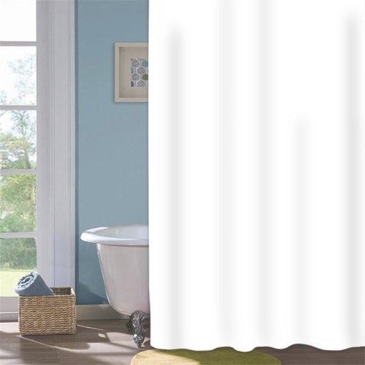 Шторка для душу Мій Дім Snowwhite 180х200 см біла (11861241) - зображення 1
