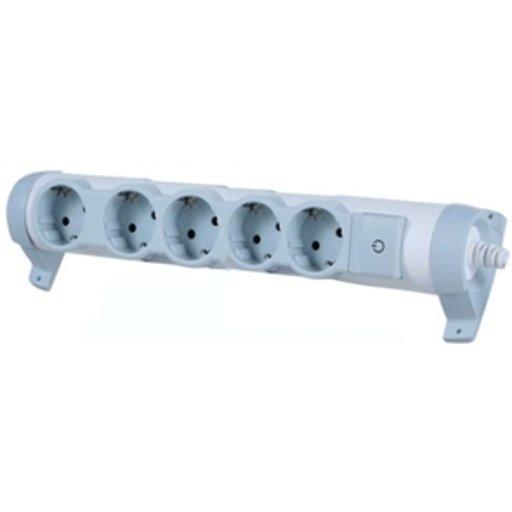 Колодка с кнопкой Legrand Комфорт 5 гнезд с/заз (11012953) - изображение 1