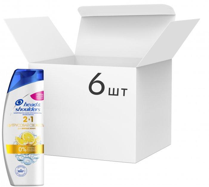 Упаковка шампуня против перхоти Head & Shoulders Цитрусовая свежесть 2-в-1 400 мл х 6 шт (4015600765163)