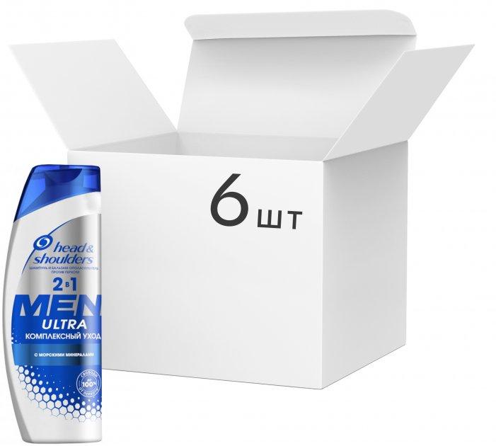 Упаковка шампуня против перхоти Head & Shoulders Ultra Комплексный уход для мужчин 2-в-1 400 мл х 6 шт (8001090359933)