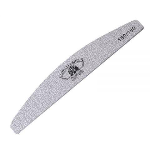Пилка для нігтів сіра 180/180 Global Fashion - зображення 1