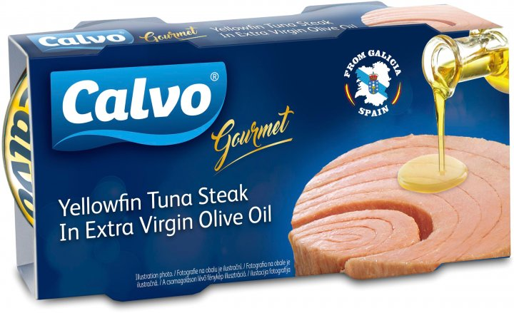 Желтопёрый тунец Calvo в оливковом масле первого холодного отжима 2 x 100 г (8410090011107) - изображение 1
