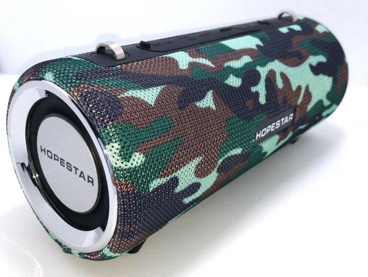 Мощная портативная bluetooth колонка Sound System H39 Pro Hopestar Оригинал 10ВТ с Влагозащитой и функцией Зарядки устройств Камуфляж - изображение 1
