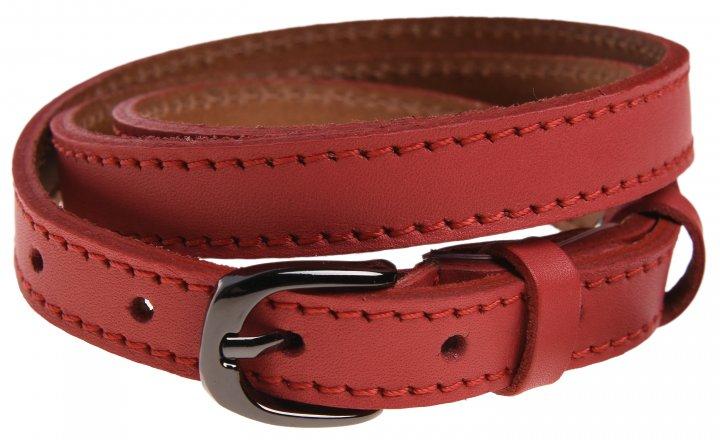 Женский ремень кожаный Sergio Torri 8-0018 85-90 см Светло-Красный (2000000014487) - изображение 1