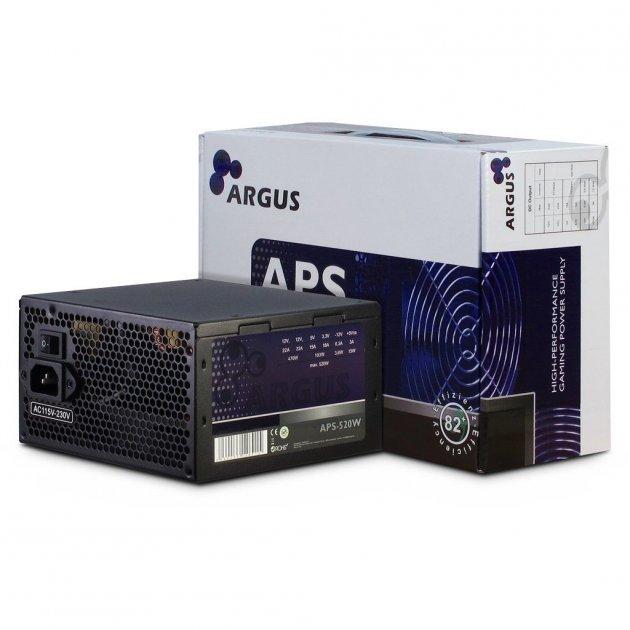 Блок живлення ПК Argus 520W (APS-520W) - зображення 1