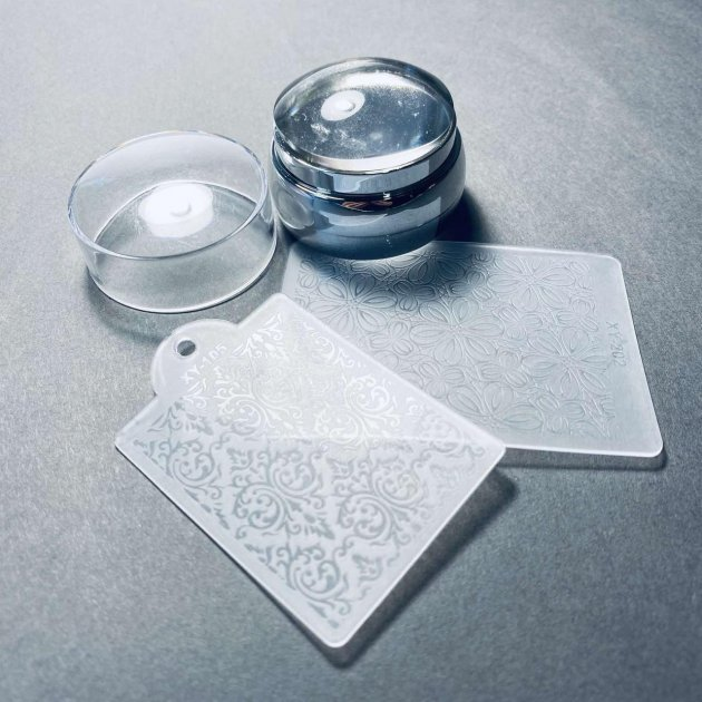 Штамп скрапер і пластина для стемпинг дизайну нігтів Global Fashion - зображення 1