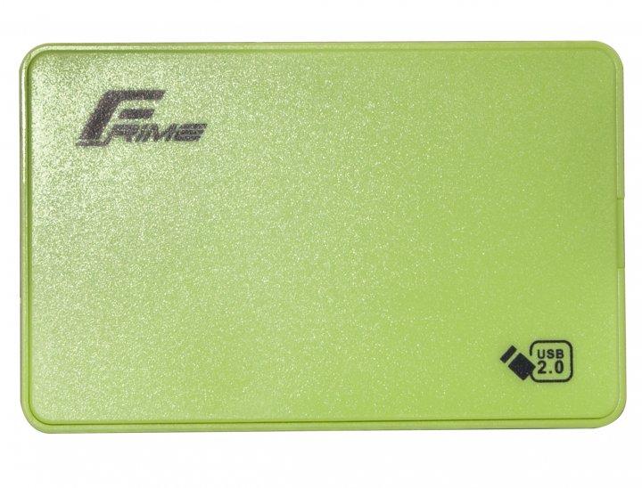 """Зовнішній кишеню Frime SATA HDD/SSD 2.5"""", USB 2.0, Plastic, Green (FHE14.25U20) - зображення 1"""