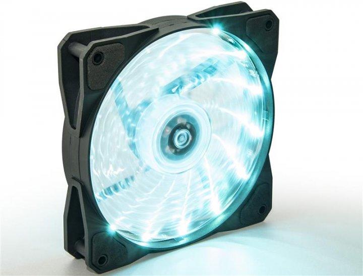 Вентилятор Frime Iris LED Fan 15LED Azure (FLF-HB120A15); 120х120х25мм, 3-pin+4-pin - изображение 1