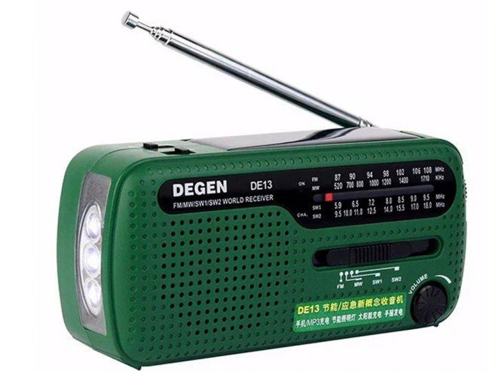 Радиоприемник Degen DE13 FM AM SW Зеленый (1007-131-00) - зображення 1