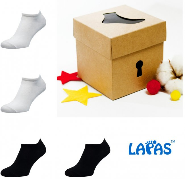 Набор носков Lapas 4P-220-222 44-46 (4 пары) Разноцветный (4820234211371) - изображение 1