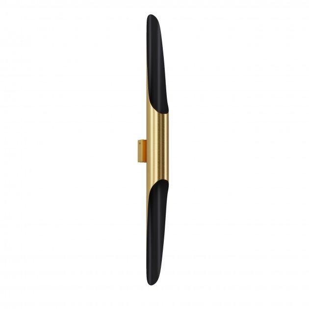 Бра для гостиной, спальни, офиса, кухни, прихожей, кафе P-full 5491-7 алюминий золотистый с черным PikArt - изображение 1