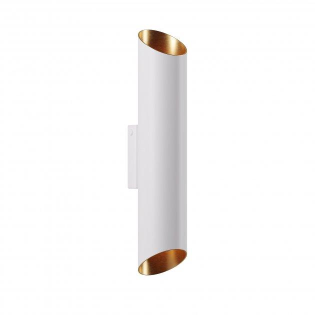 Бра для гостиной, спальни, офиса, кухни, прихожей, кафе V2 5771-1 алюминий белый с золотистым PikArt - изображение 1