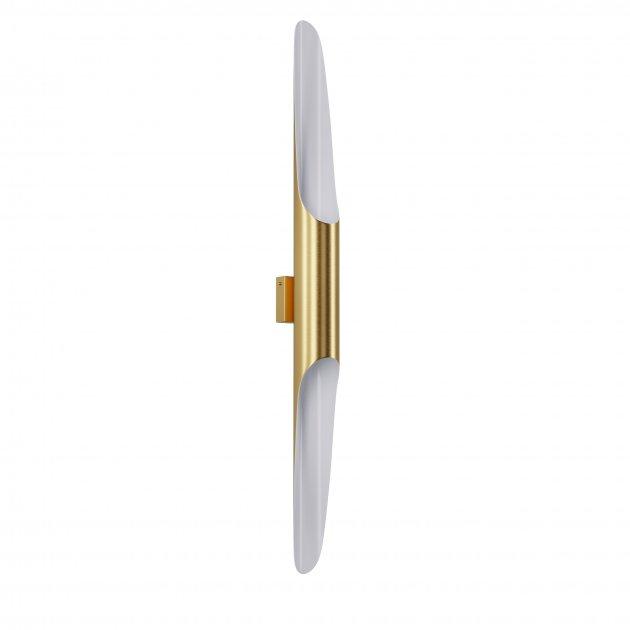 Бра для гостиной, спальни, офиса, кухни, прихожей, кафе P-full 5491-5 алюминий золотистый с белым PikArt - изображение 1