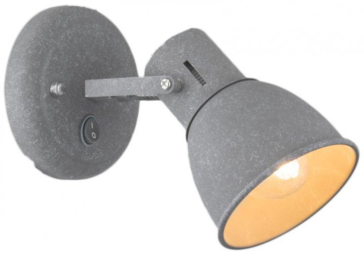 Светильник настенный Arte Lamp A1677AP-1GY JOVI 40W E14 серый (A1677AP-1GY) - изображение 1