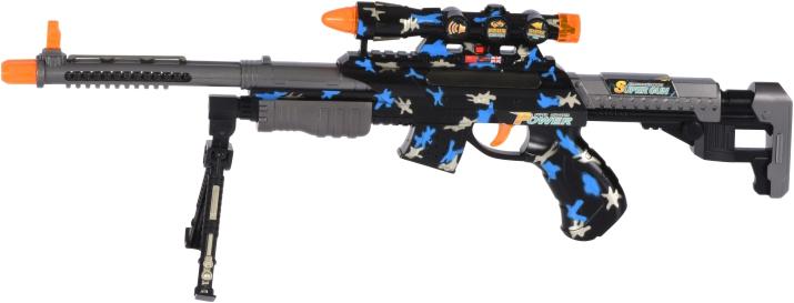 Игрушечная винтовка Same Toy BisonShotgun сенсорная со световыми и звуковыми эффектами (DF-20218AZUt) (2340000003723) - изображение 1