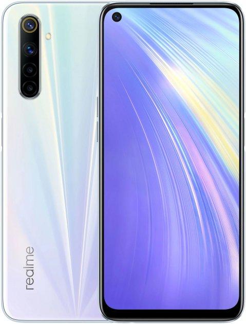 Мобильный телефон Realme 6 8/128GB White - изображение 1