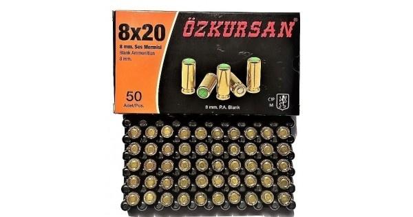 Патрон холостой Ozkursan кал.8 мм (пистолетный) 50шт - изображение 1