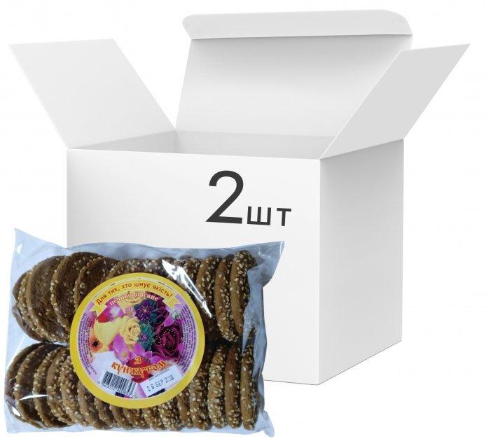 Упаковка печенья Ржищев овсяного с кунжутом 500 г х 2 шт (4820007054631) - изображение 1