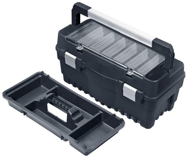 Ящик для инструмента Qbrick System System One Formula RS600 Carbo Flex ALU защелки 547 x 271 x 278 мм (SKRRS600FCAFCZAPG001) - изображение 1