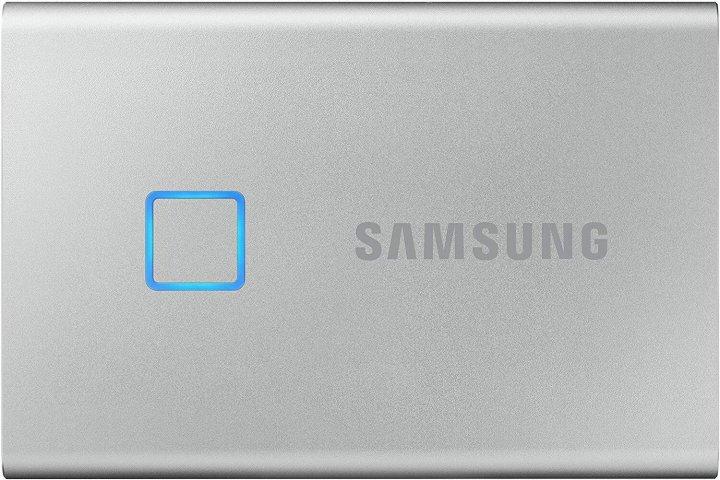 Samsung Portable SSD T7 TOUCH 1TB USB 3.2 Type-C (MU-PC1T0S/WW) External Silver - изображение 1