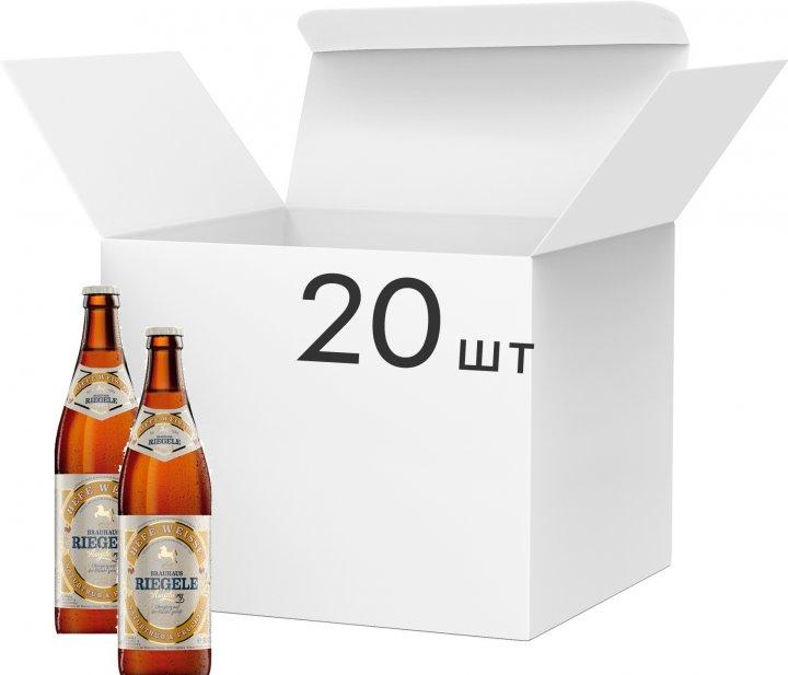 Упаковка пива Riegele Hefe Weisse світле нефільтроване 5% 0.5 л х 20 шт. (250010602026) - зображення 1