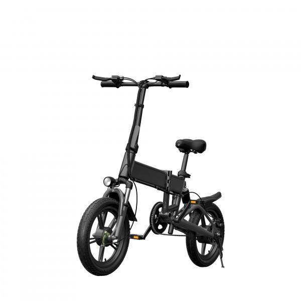 Електровелосипед Hanza ВЕ-16 Black - зображення 1