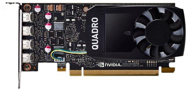 PNY PCI-Ex NVIDIA Quadro P1000V2 4GB GDDR5 (128bit) (1265/5001) (4 x miniDisplayPort) (VCQP1000V2-SB) - изображение 1