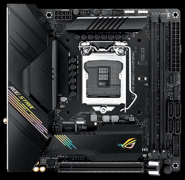 Материнська плата Asus ROG Strix B460-I Gaming (s1200, Intel B460, PCI-Ex16) - зображення 1
