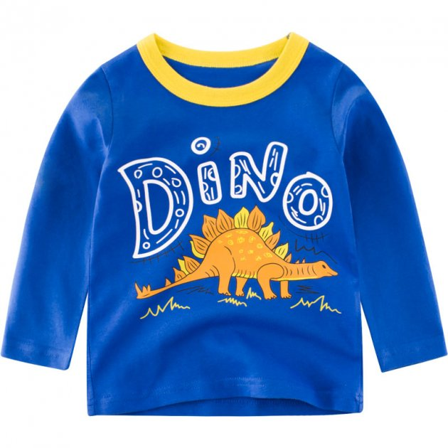 Лонгслив для мальчика Dino 27 KIDS (140) Синий (52739) - изображение 1