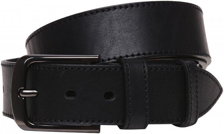 Мужской ремень кожаный Laras vmb2a 125 см Черный (ROZ6400007442) - изображение 1