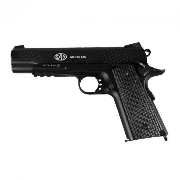 Пневматический пистолет SAS M1911 Tactical - изображение 1