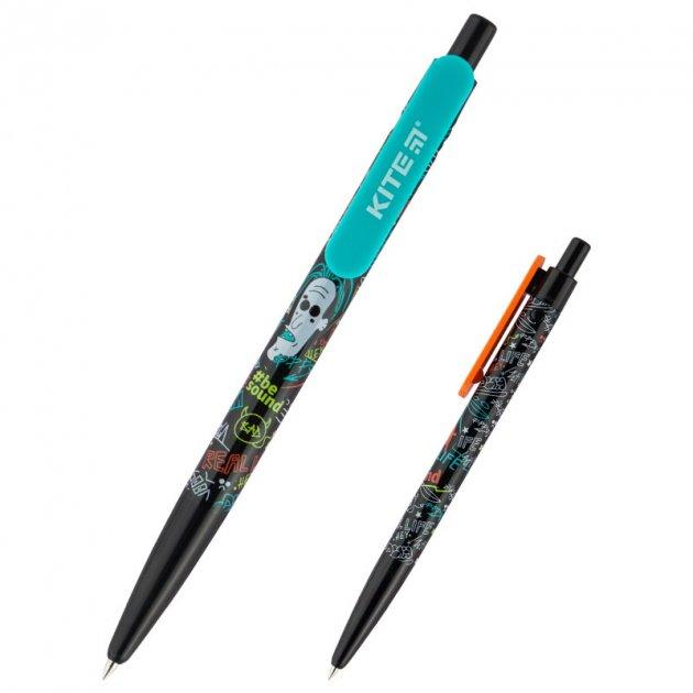 Ручка шариковая Kite BeSound синий mix 2 дизайна 0,5мм автомат (K20-360-01) - изображение 1