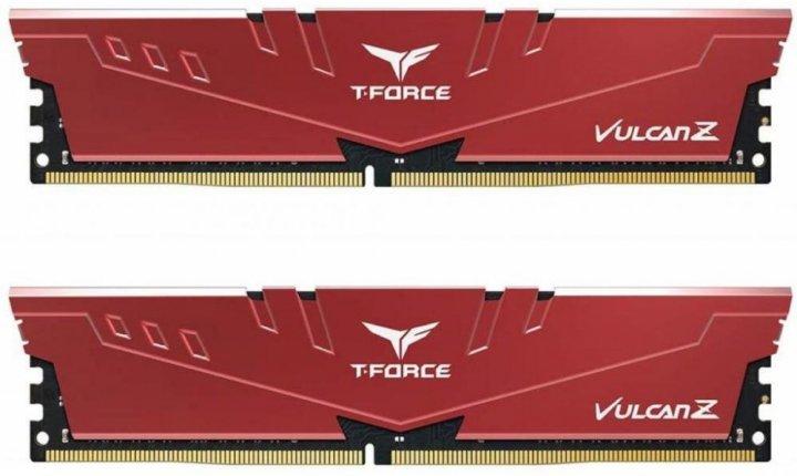 Оперативная память Team T-Force Vulcan Z DDR4-3000 16384MB PC-24000 (Kit of 2x8192) Red (TLZRD416G3000HC16CDC01) - изображение 1