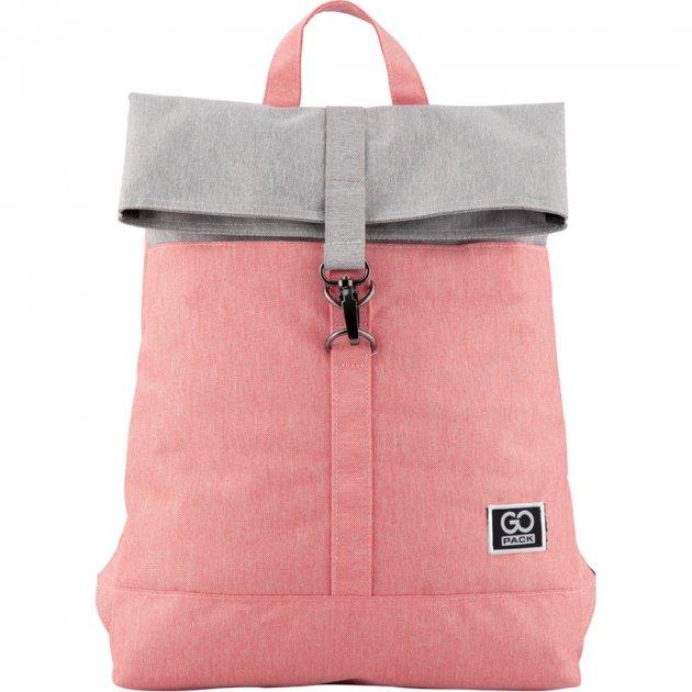 Рюкзак для города GoPack 155 GO20-155S-3 Серо-розовый - изображение 1