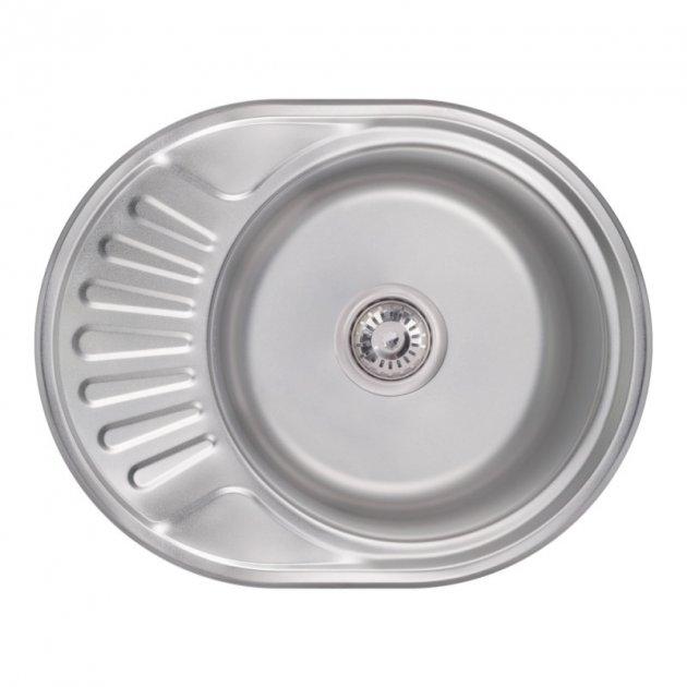 Кухонна мийка Lidz 6044 Satin 0,6 мм (LIDZ574506SAT) - зображення 1