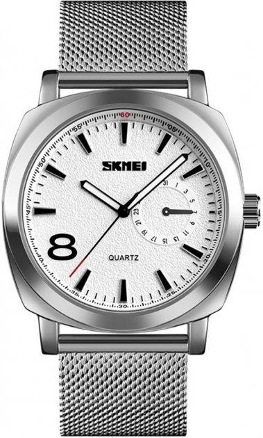 Чоловічий годинник Skmei 1466BOXSSI Silver Steel Belt BOX - зображення 1