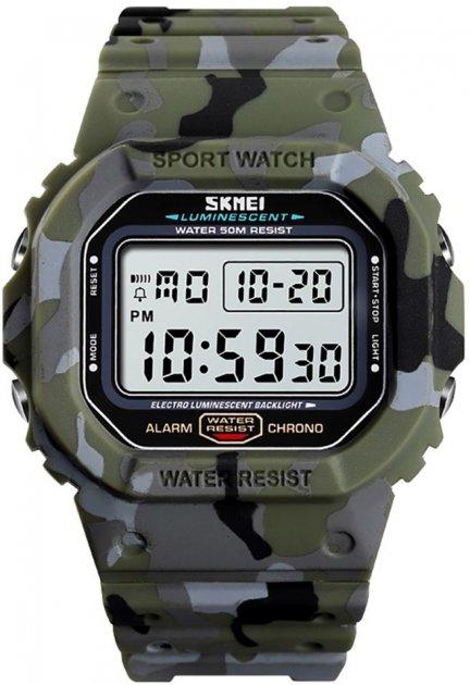 Чоловічий годинник Skmei 1471BOXGC Green Camouflage BOX - зображення 1