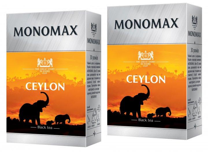 Упаковка чая Мономах черного цейлонского Ceylon 90 г х 2 шт (2000006781024) - изображение 1